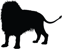 252x199 Lion Silhouette Silhouette Of Lion
