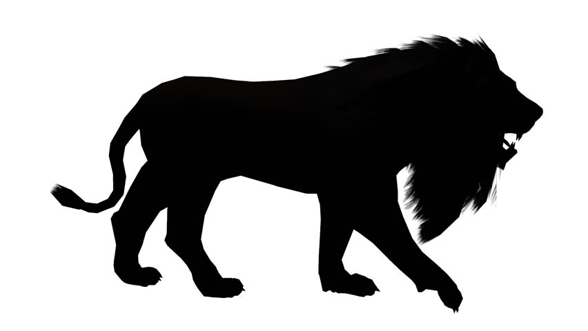 852x480 Lion Walk,endangered Wild Animal Wildlife Walking Sketch
