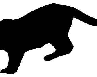 340x270 Silhouette Clipart Mountain Lion