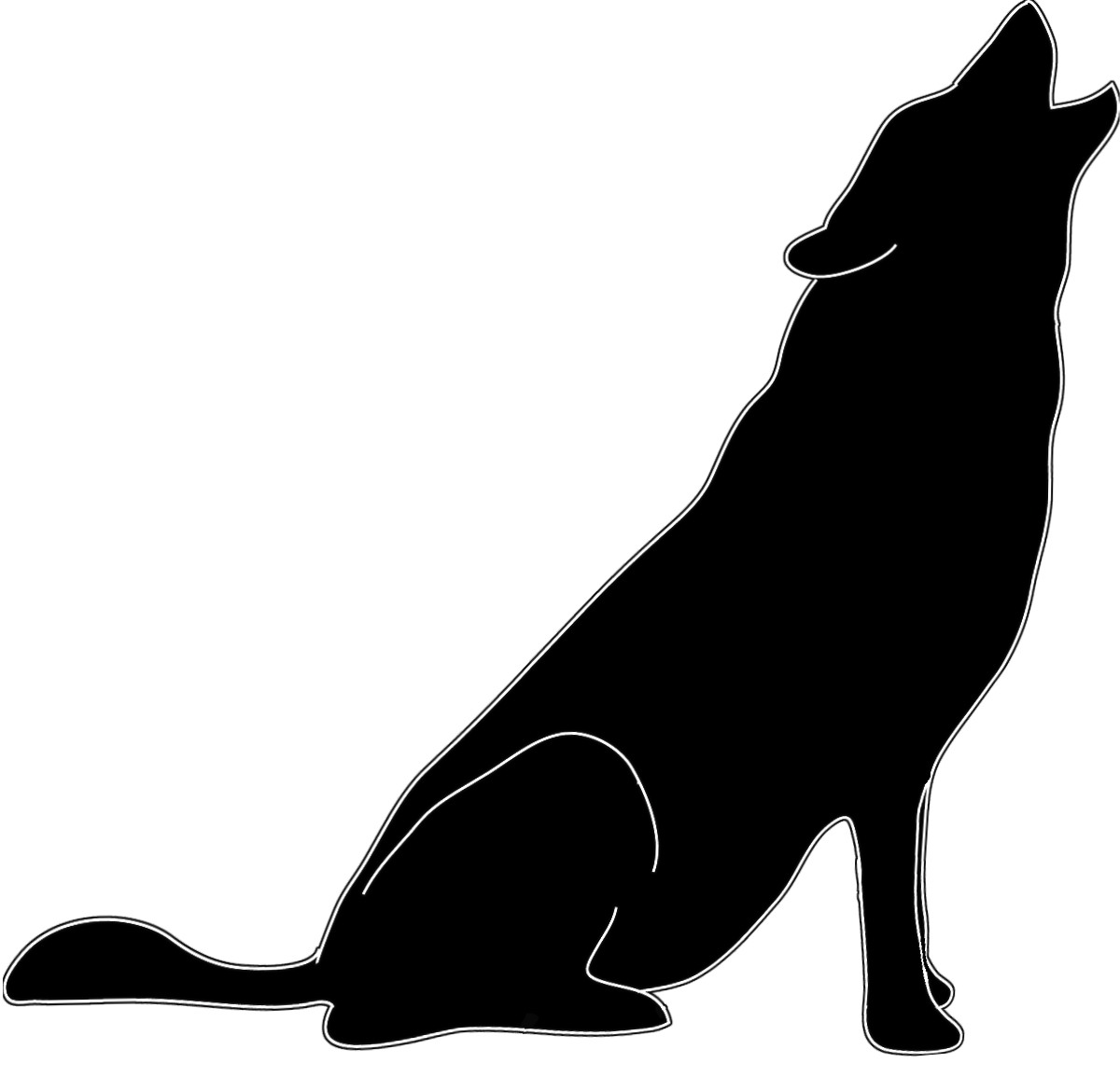 1200x1155 Silhouette In Black White Howling Wolf Crafts