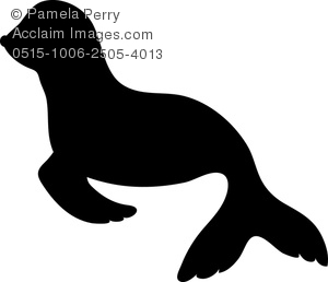 300x258 Art Image Of A Silhouette Of A Baby Seal