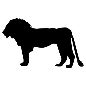 300x300 Lion Profile Silhouette Clipart, Cliparts Of Lion Profile