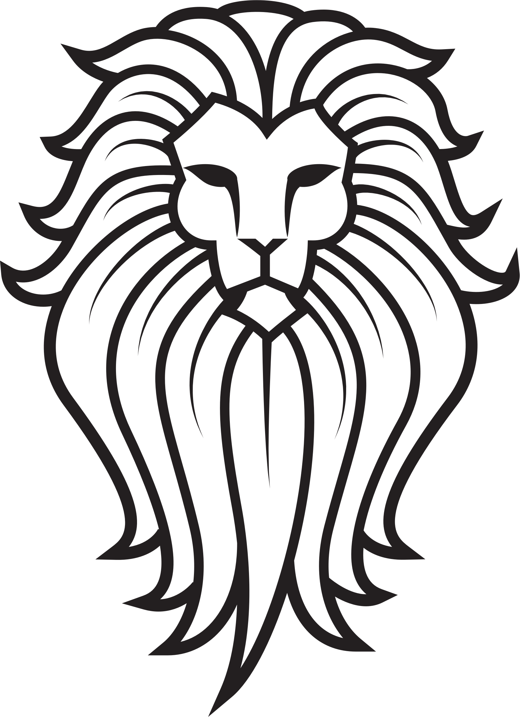 1681x2319 Large Lion Face Tattoo Transparent Png