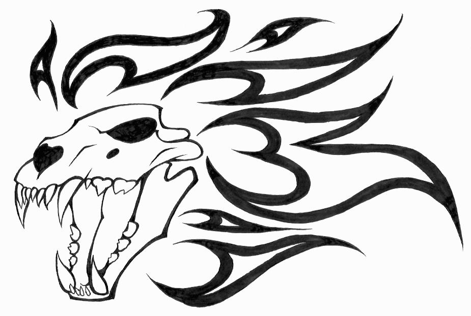 925x622 Lion Skull Tattoo 2 By Evil Spark Dragon