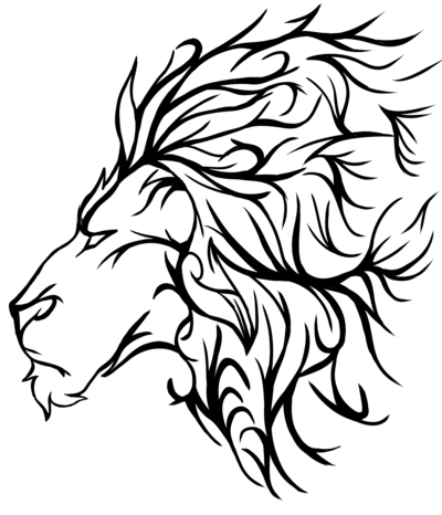 400x466 Lion Tattoo By Amberfanged