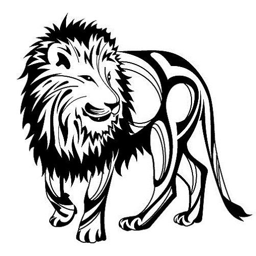 500x500 Tribal Lion Tattoos