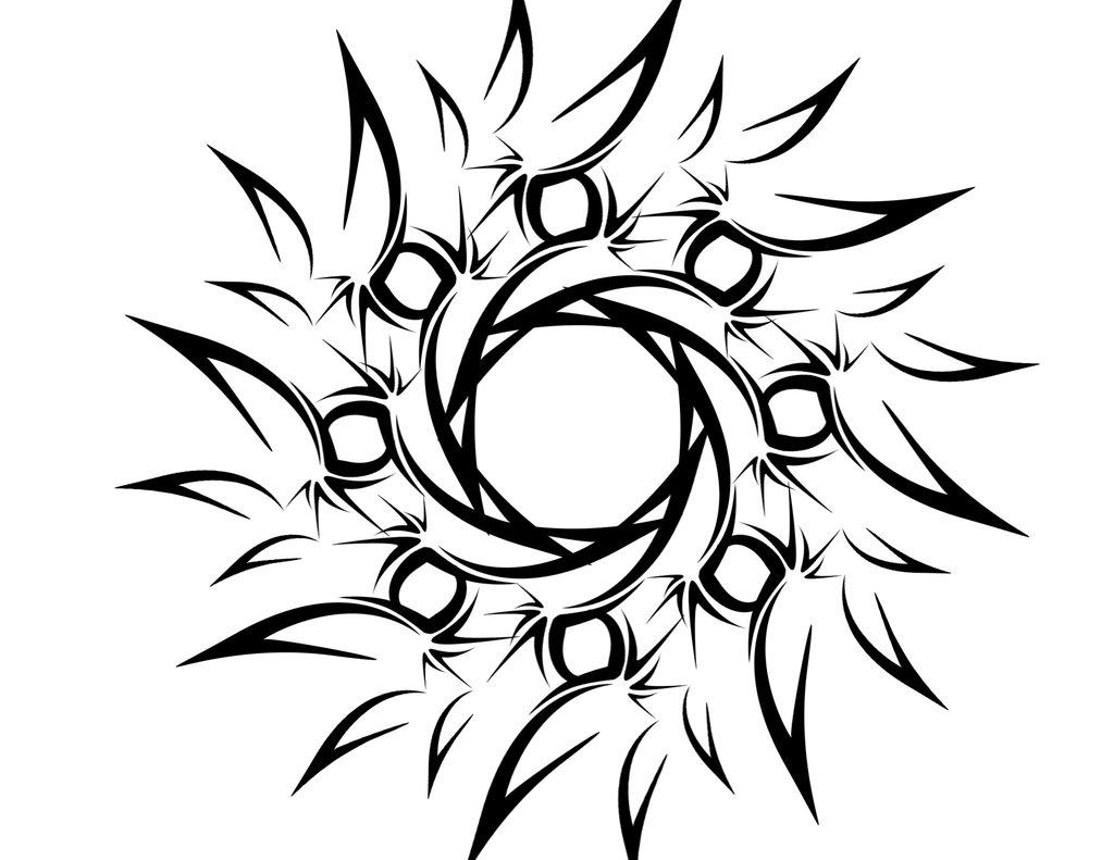 1024x791 Tribal Lion Tattoo Design On Black Background