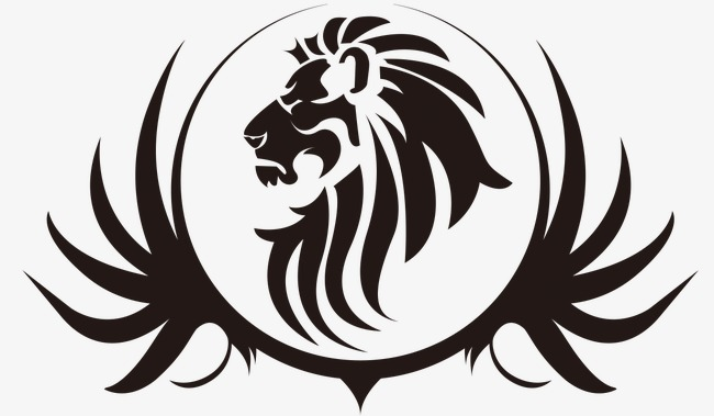 650x379 Lion's Head Black Lines, Lion's Head, Black, Tattoo Png And Psd