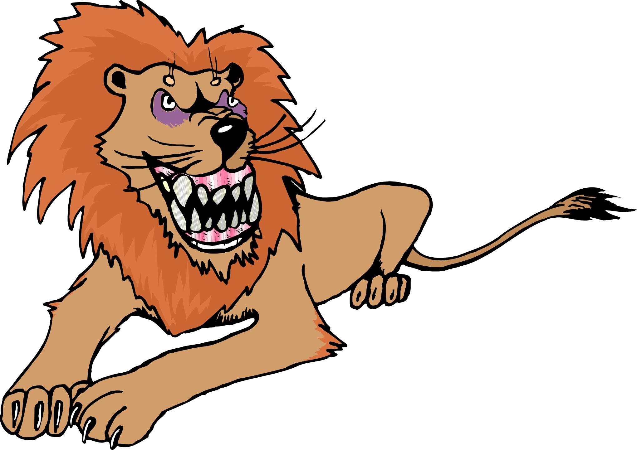 2041x1443 Lioness Clipart Animated