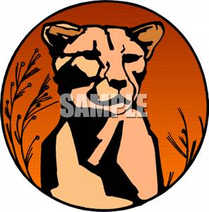 296x300 Face Of A Lioness Clipart Picture