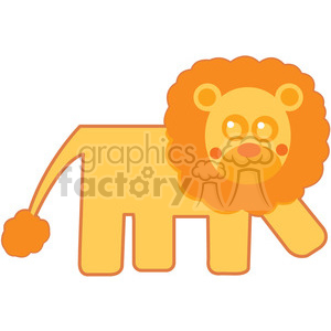 300x300 Royalty Free Curly Hair Lion With Outline Vector Image Rf Clip Art