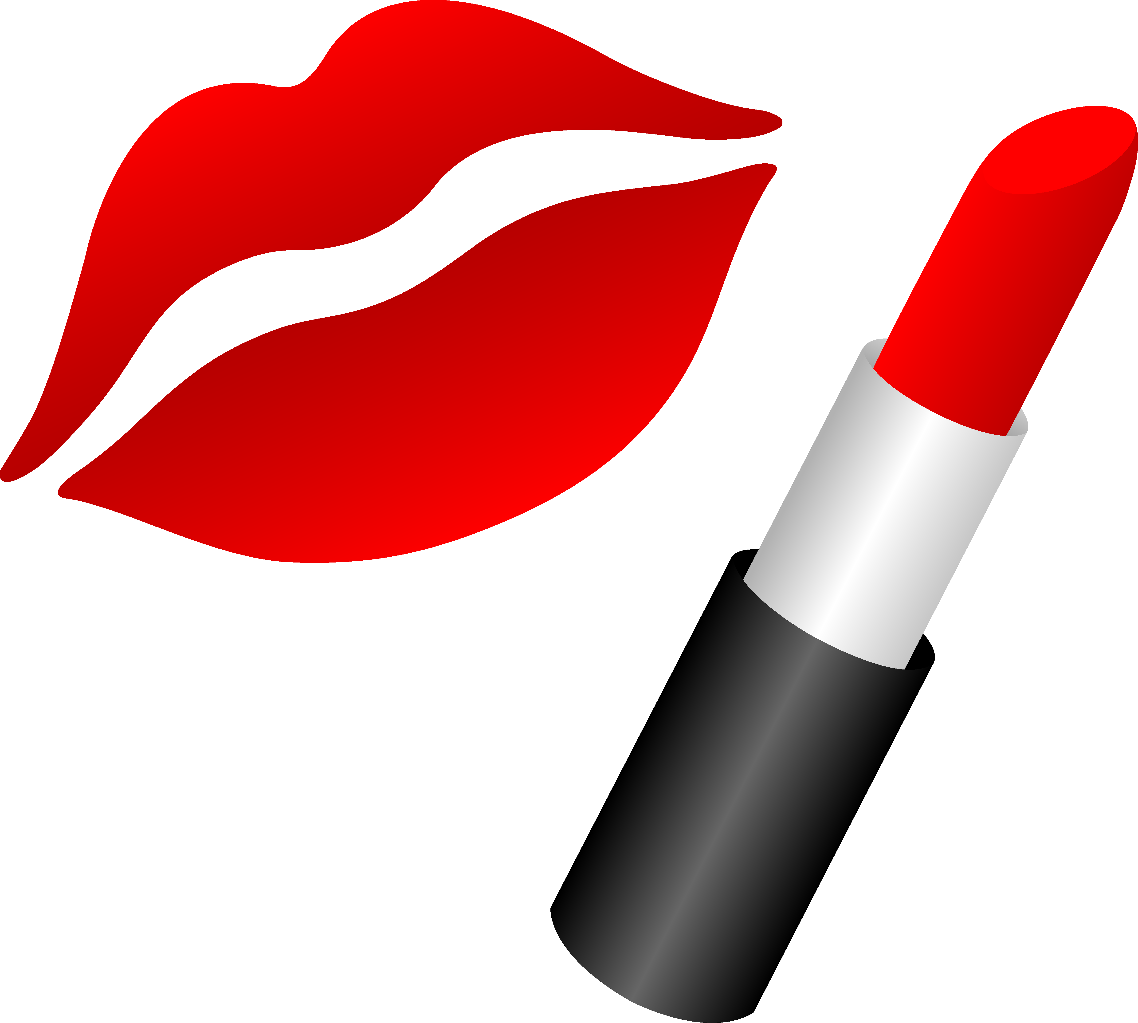 4842x4352 Lips With Red Lipstick Free Clip Art