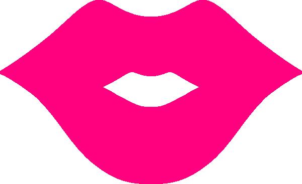 600x367 Pink Lips Clip Art