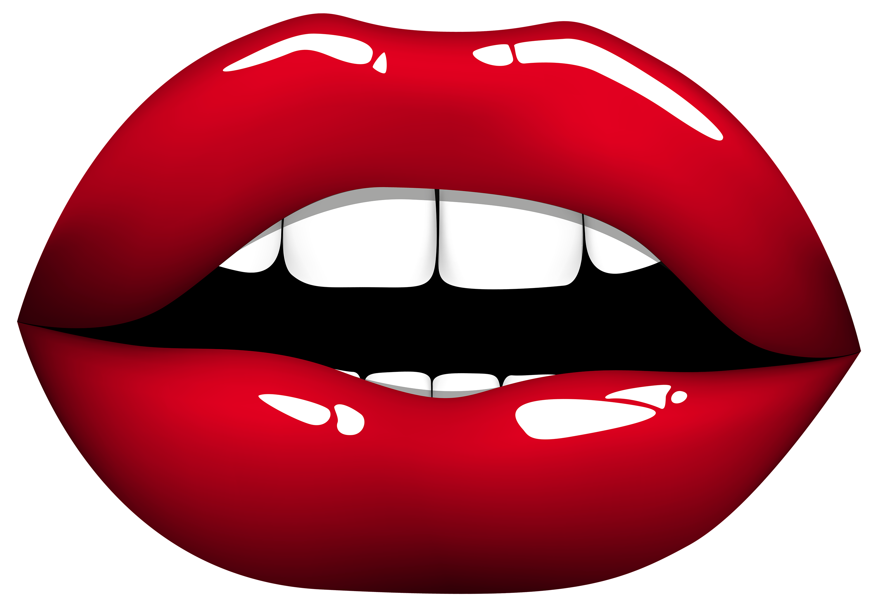 3000x2075 Red Lips Png Clipart