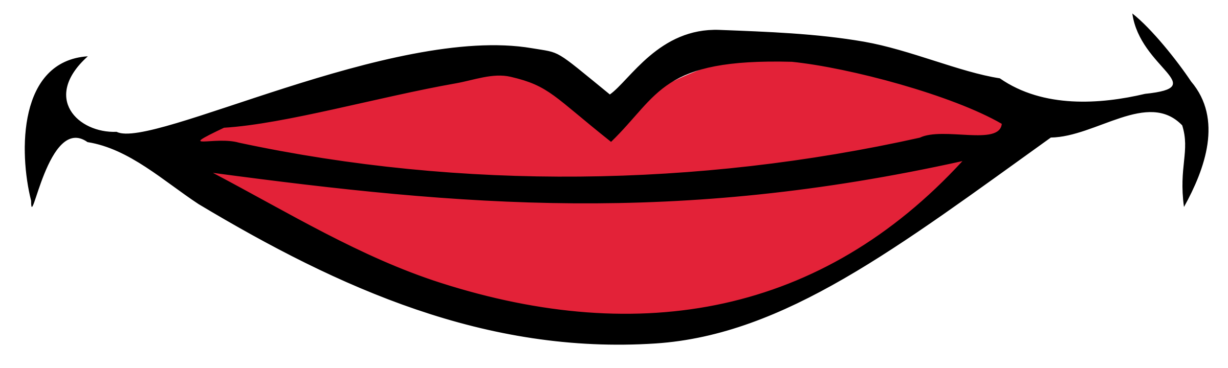2400x720 Smile Lips Clipart Free Clip Art Of 7 Clipartwork
