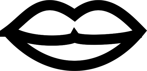 Lip Clipart Black And White