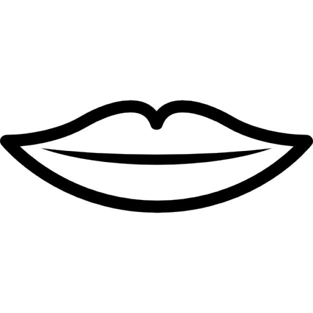 626x626 Lips Black And White Black And White Clip Art