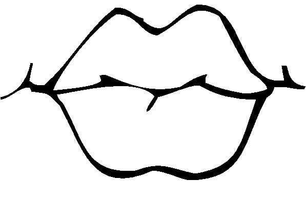 597x388 Lips Black And White Lips Coloring Pages Free Download Clip Art