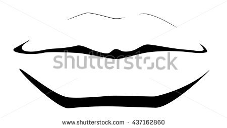 450x254 Lips Clipart Line Drawing