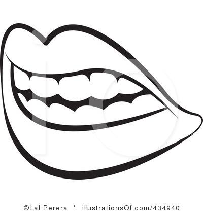 400x420 Monochrome Clipart Mouth