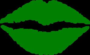 298x183 Green Transparent Lips Clip Art