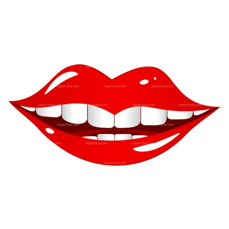 736x736 Red Lips Smile Clipart