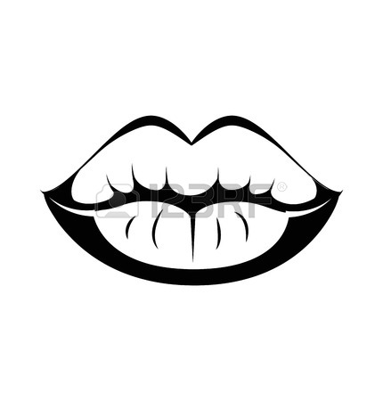 Lips Clipart Black And White