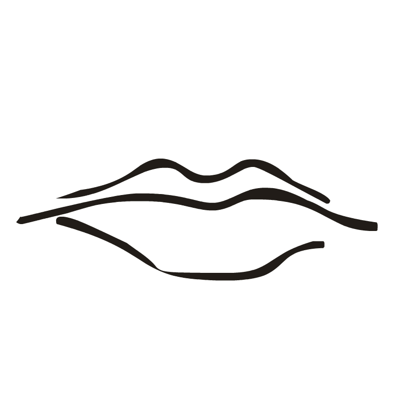 800x800 Lips Black And White Cartoon Lips Clipart Free Download Clip Art