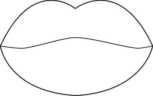 500x314 Lips Clipart Lip Outline