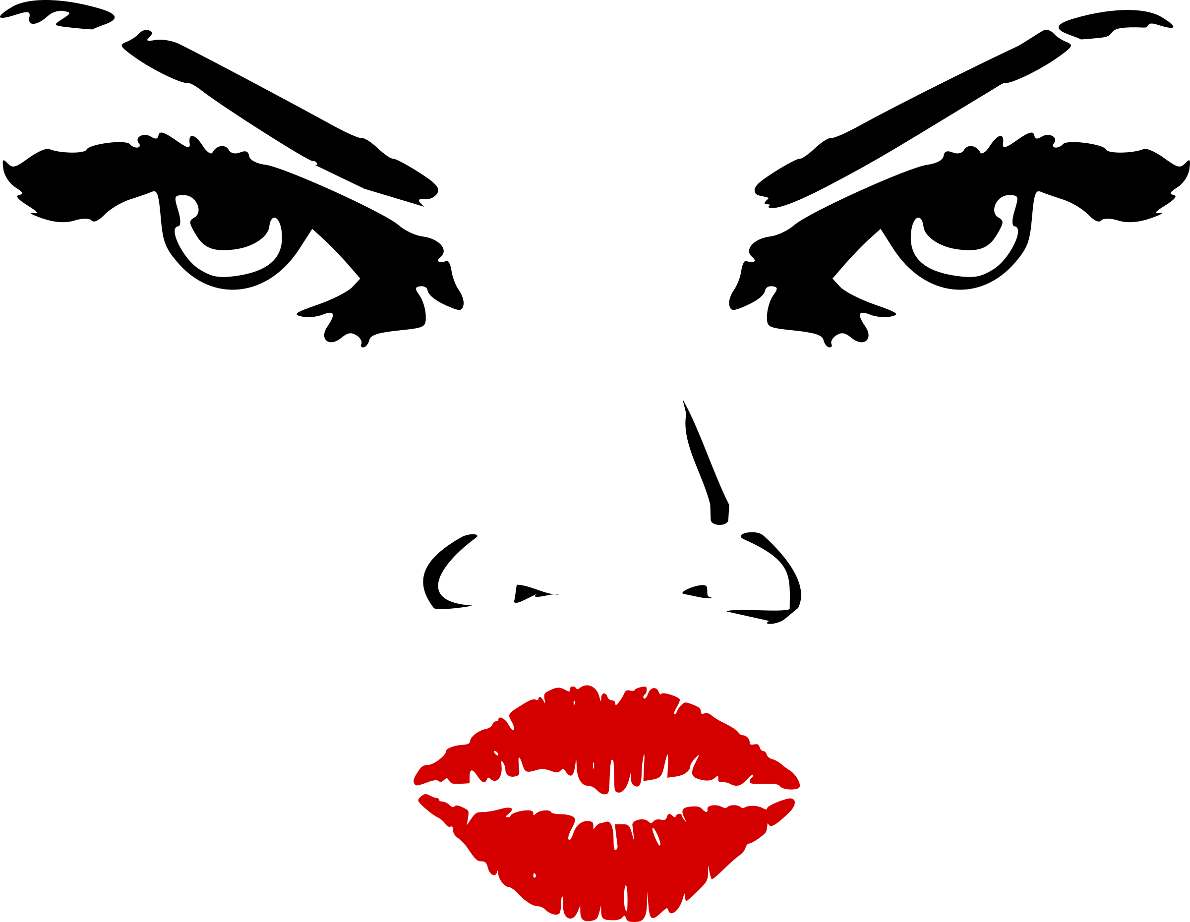 2400x1860 Lips Clipart Nose