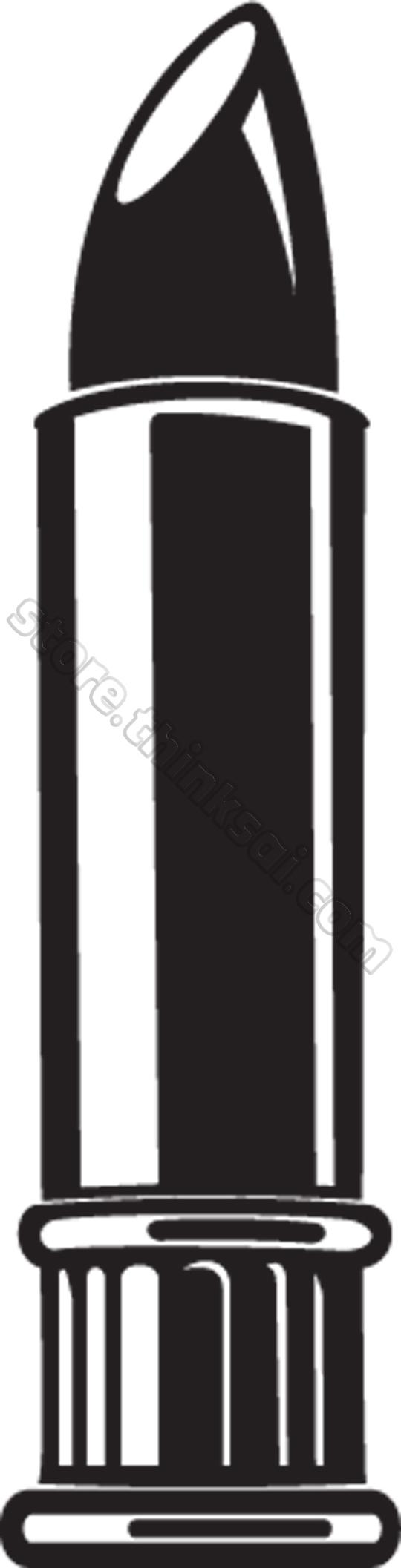 540x2114 Lipstick Clipart Black And White