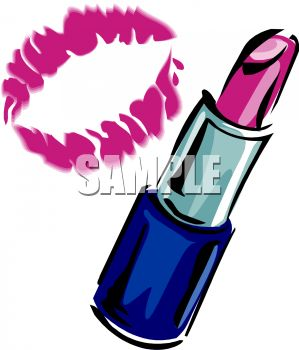 299x350 Royalty Free Clip Art Image Lipstick Kiss And A Tube Of Lipstick