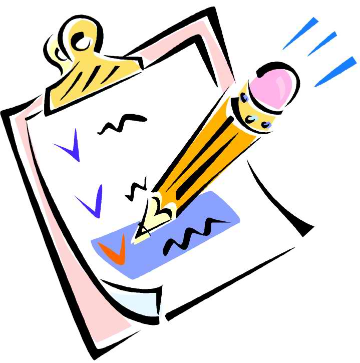 719x725 Check List Clip Art