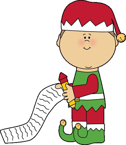 435x500 Clip Art Cute Christmas Gift List Clipart