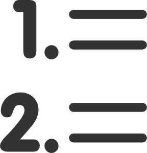 288x299 Number List Clip Art