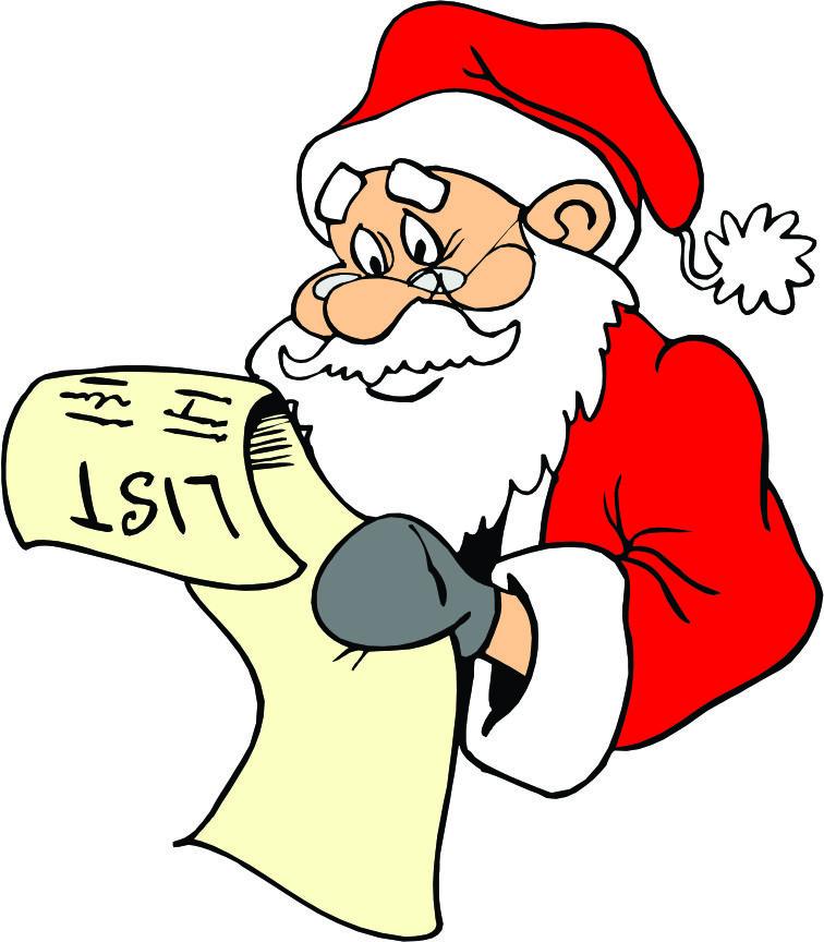 756x864 Santa List Clip Art