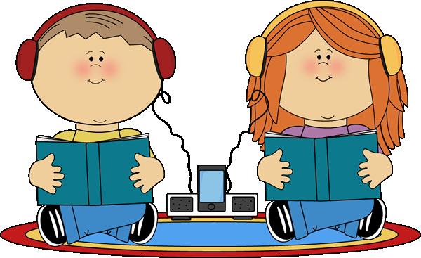 600x367 School Kids On Rug Listening To Books Clip Art