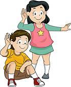 139x170 Clip Art Of Listening Kids K19901707