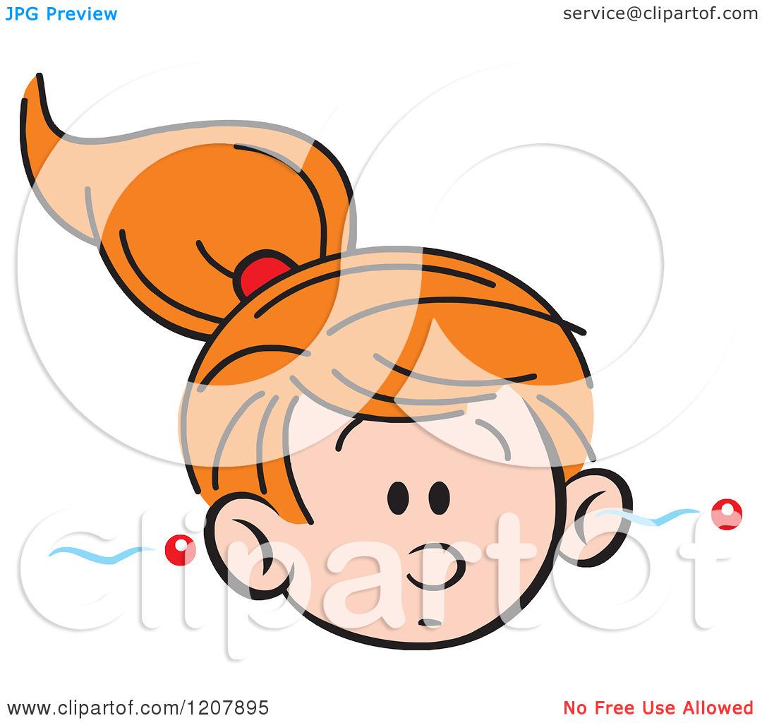 1080x1024 Ear Listening Girl Clipart