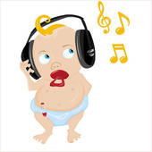 170x170 Clip Art Of A Girl Listening To A Music Mod0002