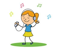 195x164 Girl Listening To Music Clipart