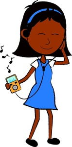 148x300 Girl Listening To Music Clip Art Cliparts