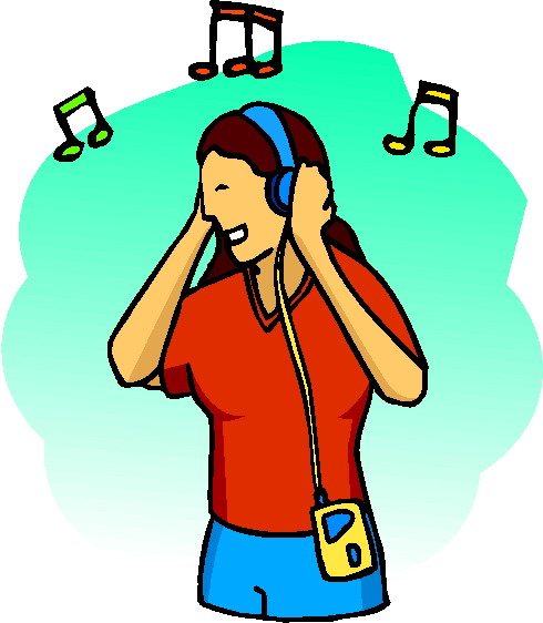 490x562 Listening To Music Clip Art