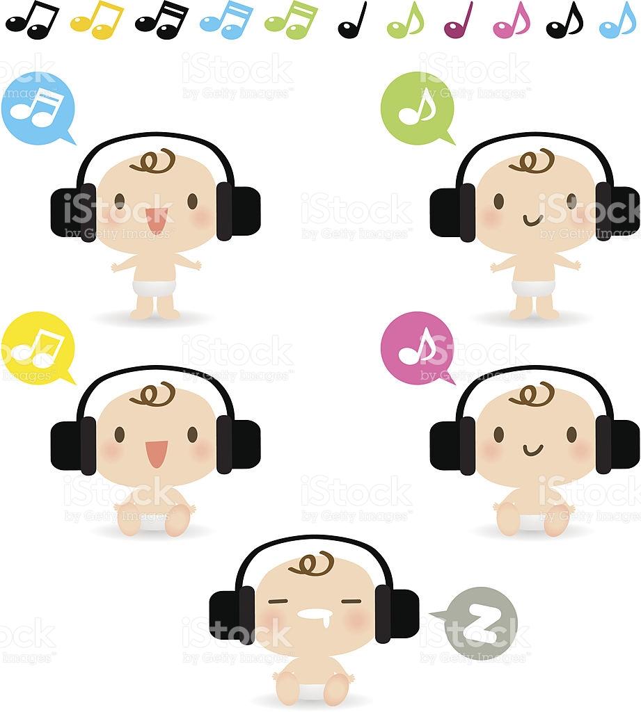 921x1024 Baby Music Clipart
