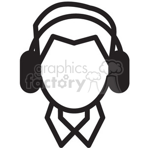 300x300 Royalty Free Person Listening To Music Vector Icon 398737 Icon