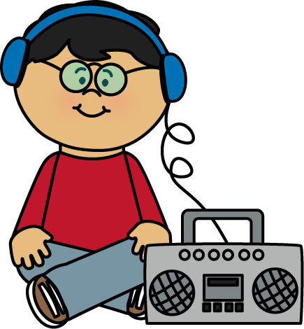 435x470 Best Listening To Music Clipart