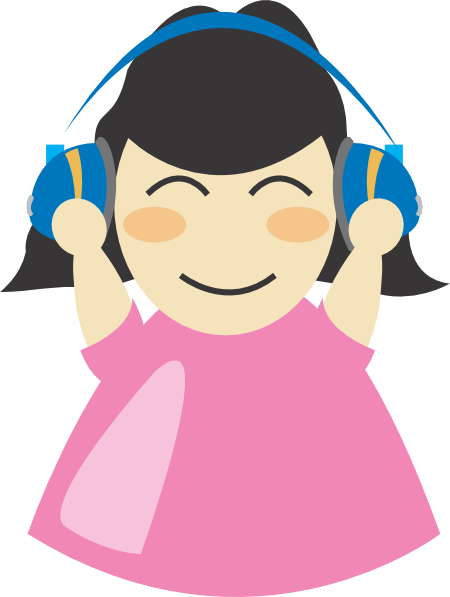 450x597 Best Listening To Music Clipart