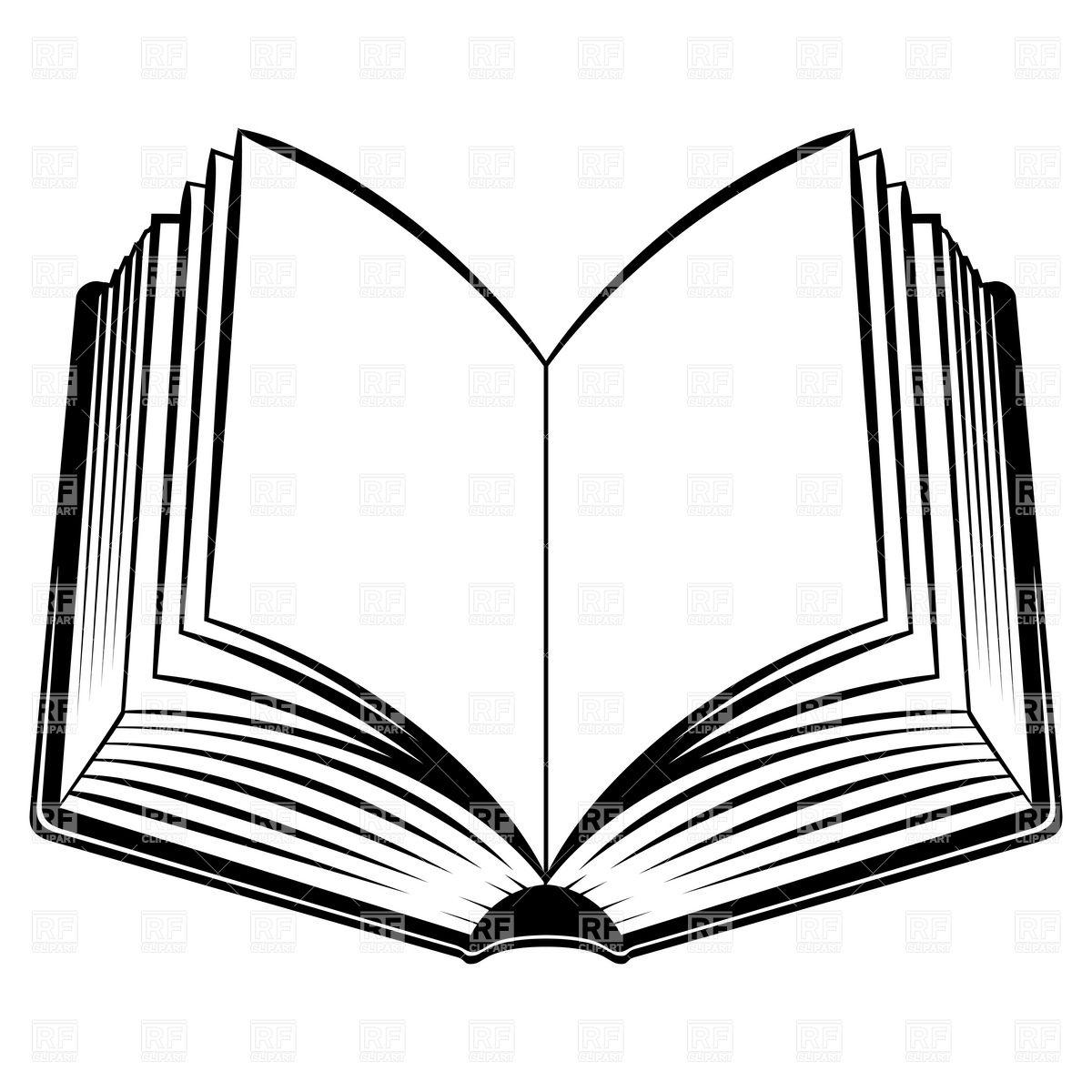 1200x1200 Simple Open Book Royalty Free Vector Clip Art Image