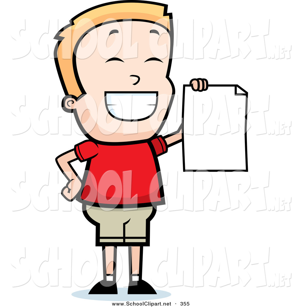 1024x1044 Clip Art Of A Cheerful And Grinning Little Boy Holding Up A Blank