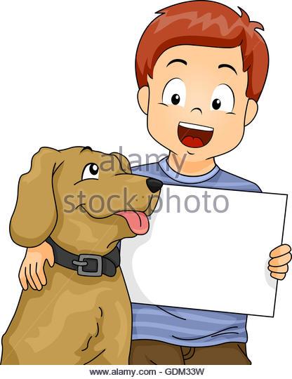 416x540 Little Boy Pet Dog Illustration Stock Photos Amp Little Boy Pet Dog
